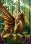 Kartka urodzinowa z grafiką Anne Stokes-Friendly Dragon