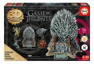 Game of Thrones 3D Puzzle Żelazny tron 56el. Drewno