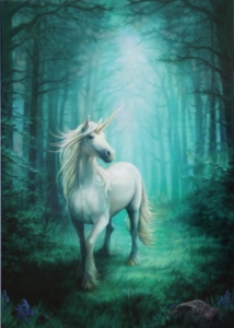 Kartka z grafiką Forest Unicorn