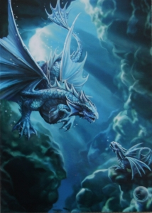 Kartka z grafiką Water Dragon z serii Age of Dragons