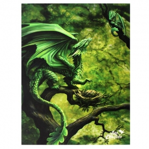 Leśny Smok-Forest Dragon-Age of Dragons Anne Stokes-obraz na płótnie canvas